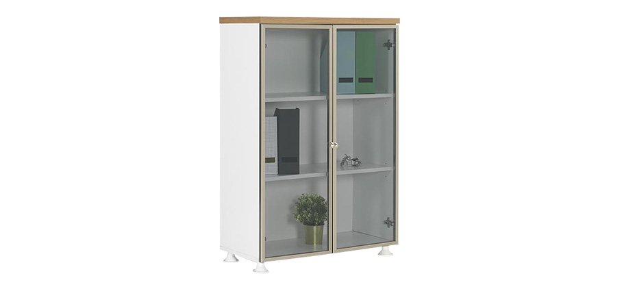 ALD-120 ALUMINUM FRAME GLASS DOOR FILE CABINET