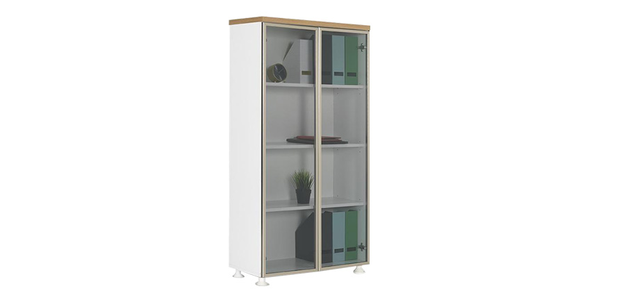 ALD-160 ALUMINUM FRAME GLASS DOOR FILE CABINET