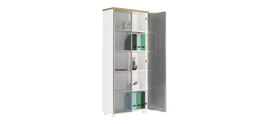 ALD-190 ALUMINUM FRAME GLASS DOOR FILE CABINET