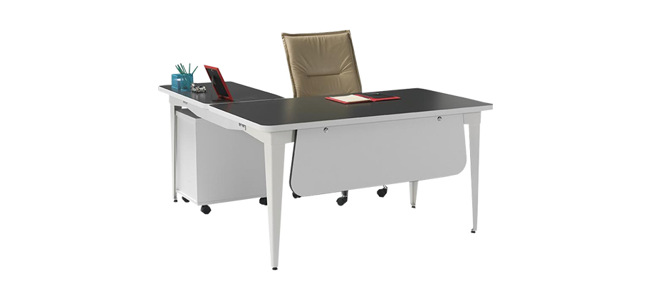 MAG-160 MELAMIN COATED L TYPE OFFICE TABLE