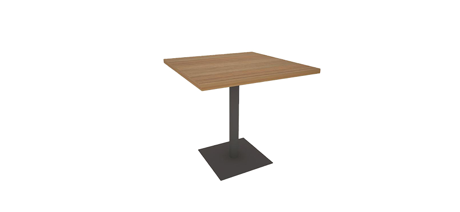 VYMK-80 SQUARE PIPE FOOT DINING TABLE