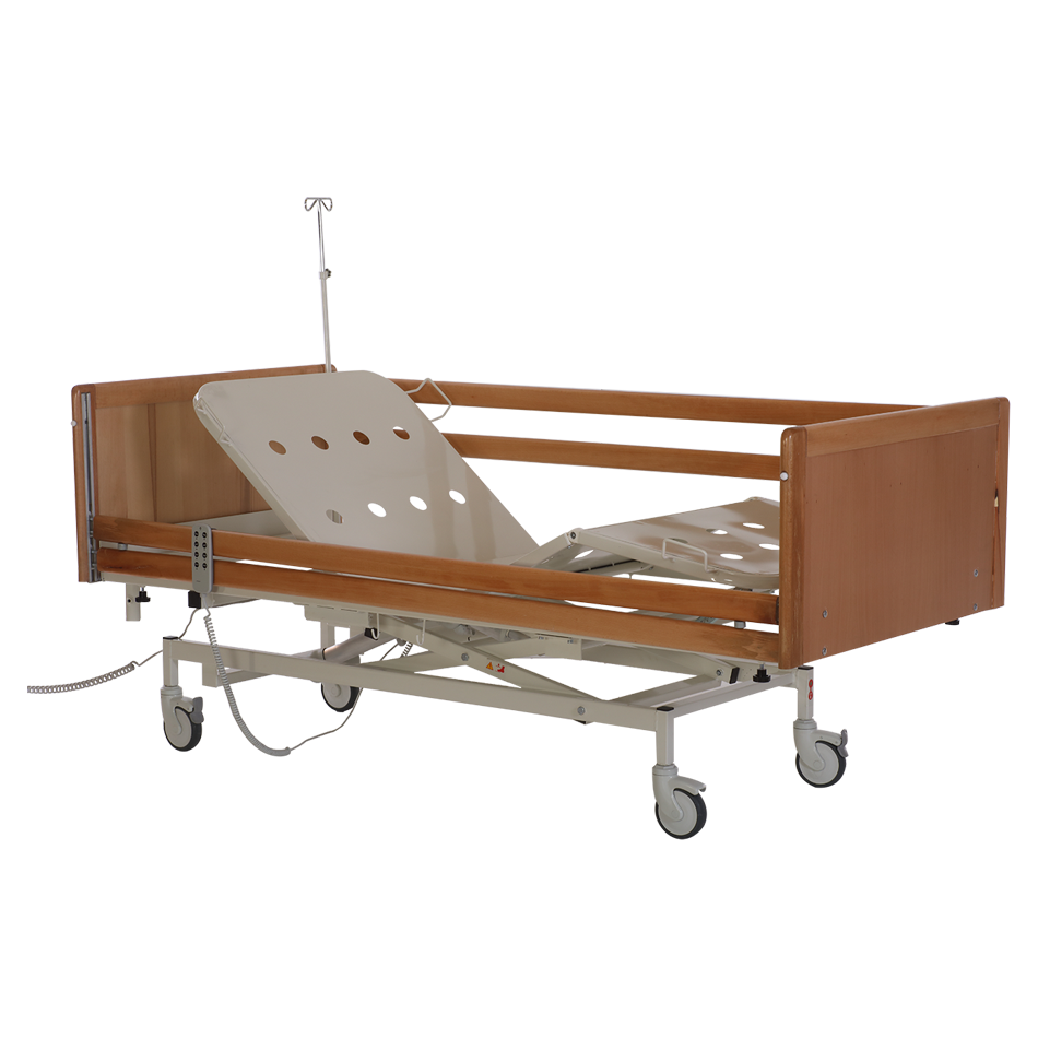 HKA - 3000 WOODEN HOSPITAL BED WITH 3 MOTORS