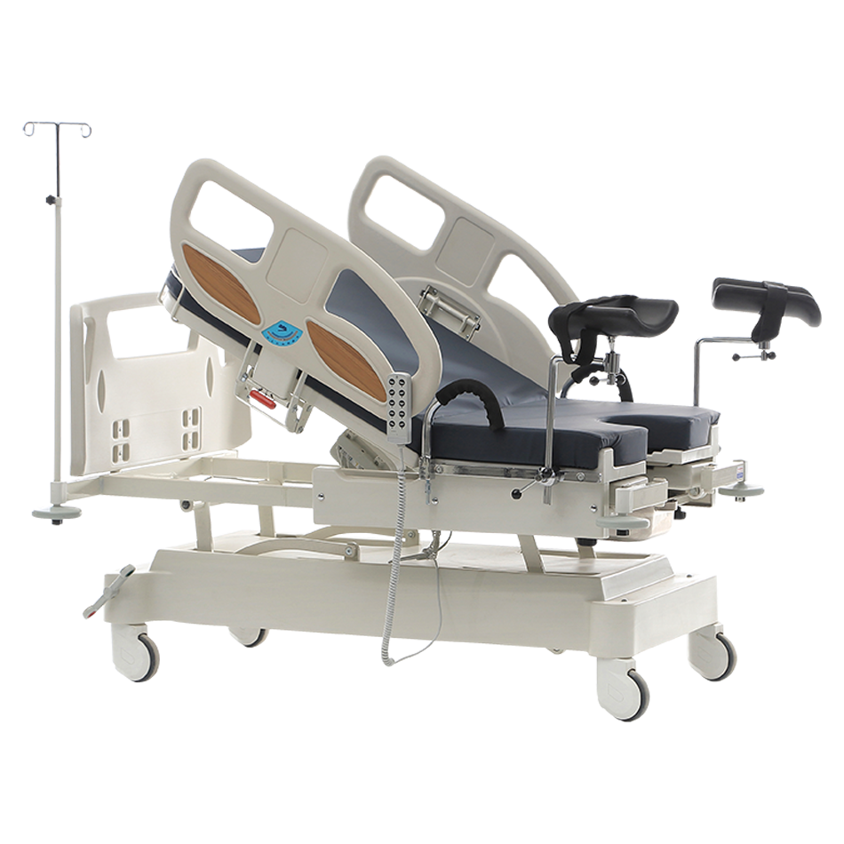 DELIVERY BED AND GYNECOLOGICAL EXAMINATION CHAIR